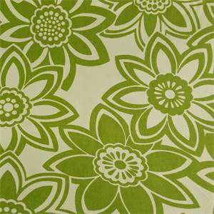 Full Bloom Aloe Green Floral Drapery Fabric