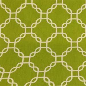 Criss Cross Aloe Green Geometric Cotton Drapery Fabric by Richtex Premium Prints