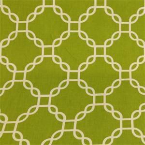 Criss Cross Aloe Green Geometric Cotton Drapery Fabric by Richtex Premium Prints