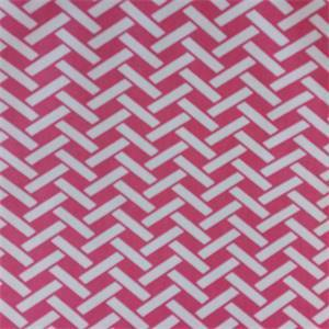 Rian Hot Pink Herringbone Drapery Fabric