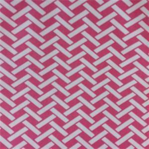 Rian Hot Pink Herringbone Drapery Fabric