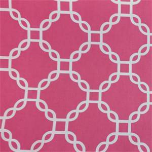 Criss Cross Hot Pink Geometric Cotton Drapery Fabric by Richtex Premium Prints