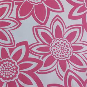 Full Bloom Hot Pink Floral Drapery Fabric