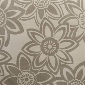 Full Bloom Dove Grey Floral Drapery Fabric