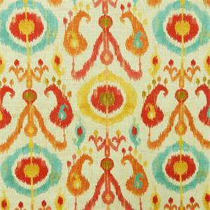Holiday Fiesta Red Ikat Drapery Fabric by Richloom