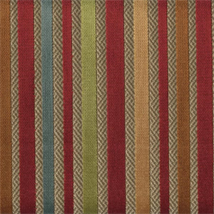 Mexicali Sunset Red Stripe Cut Chenille Upholstery Fabric 52930