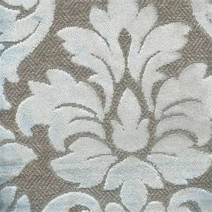 Cascade Ice Blue Floral Cut Chenille Upholstery Fabric