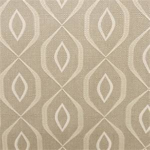 Commarque Patina Gray Embroidered Geometric Drapery Fabric by Swavelle Mill