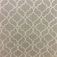 Clermont Flax  Gray Geometric Drapery Fabric by Swavelle Mill