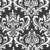 Ozborne Black by Premier Prints Drapery Fabric