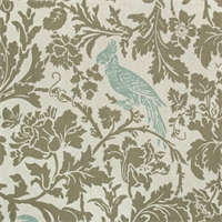 Barber Kelp/Eaton Blue Linen by Premier Prints - Drapery Fabric
