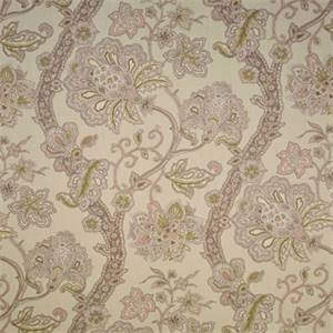 Mi Casa Oyster Beige Floral Cotton Drapery Fabric by P Kaufmann