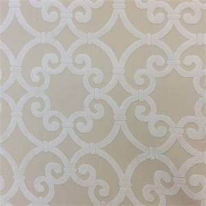 Terrace Taupe Tan Cut Chenille Geometric Design Upholstery Fabric