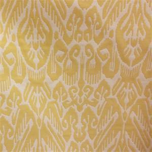 M9858 Citros Yellow Woven Ikat Upholstery Fabric by Barrow Merrimac