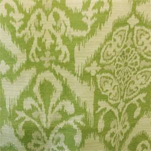 M9855 Lime Green Geometric Ikat Design Chenille Upholstery Fabric by Barrow Merrimac