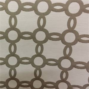 M9793 Taupe Grey Geometric Upholstery Fabric By Barrow