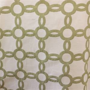M9793 Fern Green Geometric Upholstery Fabric By Barrow