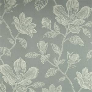 Bouquet Bay Seaspray Green Floral Cotton Drapery Fabric by Robert Allen