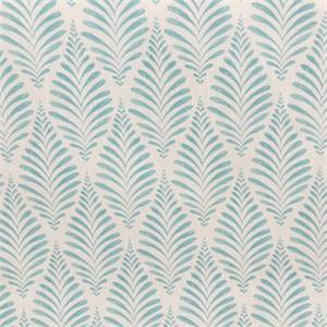Mita Hillside Matisse Blue Cotton Leaf Design Drapery Fabric by Swavelle Mill