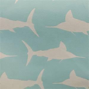 Marlin Cayo Blue Woven Aquatic Indoor Outdoor Fabric by Altizer