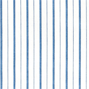D3127 Piper Cobalt Blue Stripe Cotton Drapery Fabric By