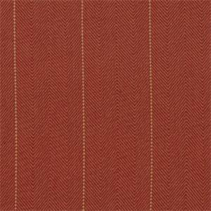 Copley Terracotta Orange Cotton Herringbone Stripe Drapery Fabric