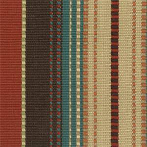 Appalachian Terracotta Orange Stripe Cotton Upholstery Fabric