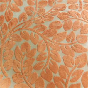 Hybrid Velvet Straw Orange Floral Cut Velvet Upholstery Fabric By P