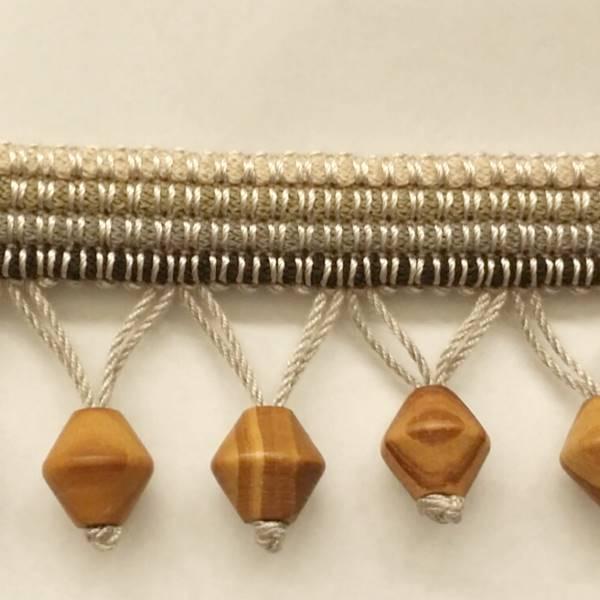 3322vy grey wooden bead trim sw53960 discount fabrics
