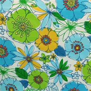 Margate Fredo Swan Blue Green Floral Indoor Outdoor Upholstery ...