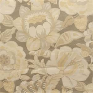 Enchanted Slate Gray Floral Cotton Drapery Fabric