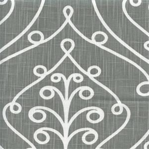 Barcelona Summerland Grey Miller Scroll Drapery Fabric by Premier Prints 30 Yard Bolt