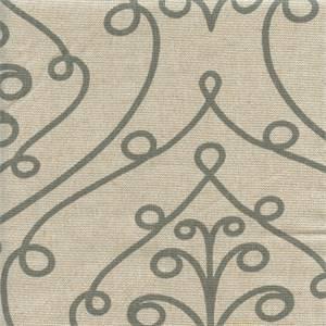 Barcelona Summerland Grey Loni Scroll Drapery Fabric by Premier Prints 30 Yard Bolt