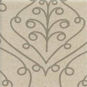 Barcelona Ecru Loni Scroll Drapery Fabric by Premier Prints 30 Yard Bolt