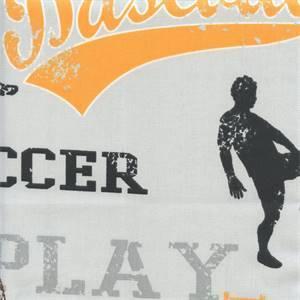Sports Orange Twill Novelty Drapery Fabric by Premier Prints 30 Yard Bolt