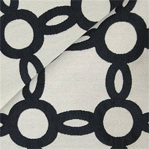 M9793 Domino Black White Geometric Upholstery Fabric By Barrow