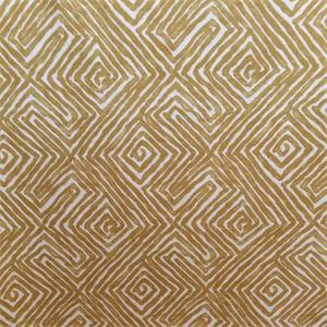 Patras Paramount Chamomile Gold Geometric Cotton Drapery Fabric by Swavelle Mill Creek