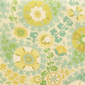 Somerset Seabreeze Blue and Yellow Slub Drapery Fabric By Richloom