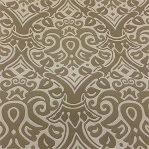King Damask Cream Upholstery Fabric by P Kaufmann