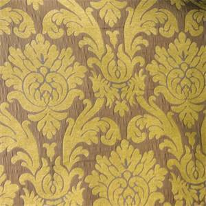Rosaline Citron Damask Upholstery Fabric by P Kaufmann