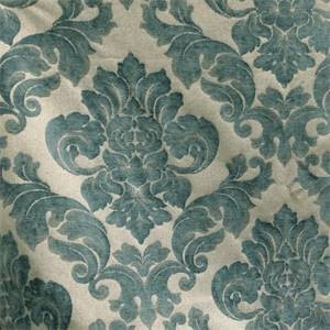 Sweetbriar Marine Blue Damask Upholstery Fabric