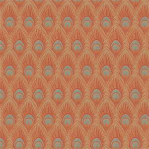 03518-VY Spice Feather Print Upholstery Fabric by Trend Fabrics