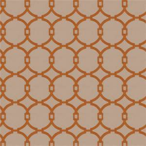 03496-VY Burnt Orange Embroidered Drapery Fabric by Trend Fabrics