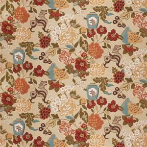 03517-VY Spice Floral Drapery Fabric by Trend Fabrics