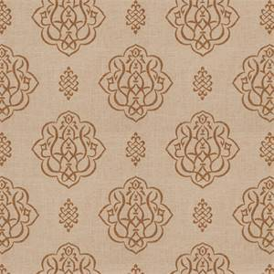 03512-VY Umber Floral Drapery Fabric by Trend Fabrics