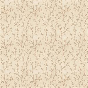 03503-VY Natural Embroidered Floral Drapery Fabric by Trend Fabrics
