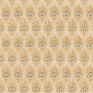 03518-VY Sesame Feather Print Upholstery Fabric by Trend Fabrics