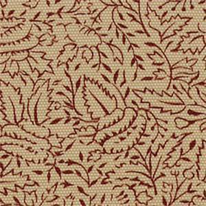 Mataram Cinnabar Red Floral Cotton Drapery Fabric by Robert Allen