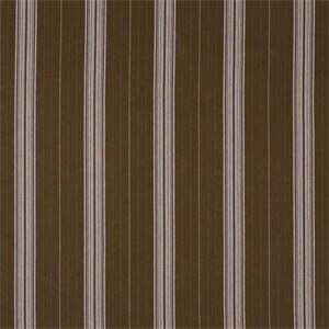 Welsh Mahogany Brown Stripe Cotton Drapery Fabric by Robert Allen