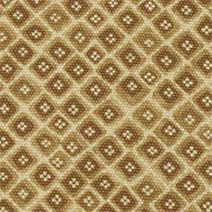 Mynah Sand Tan Floral Diamond Cotton Drapery Fabric by Robert Allen